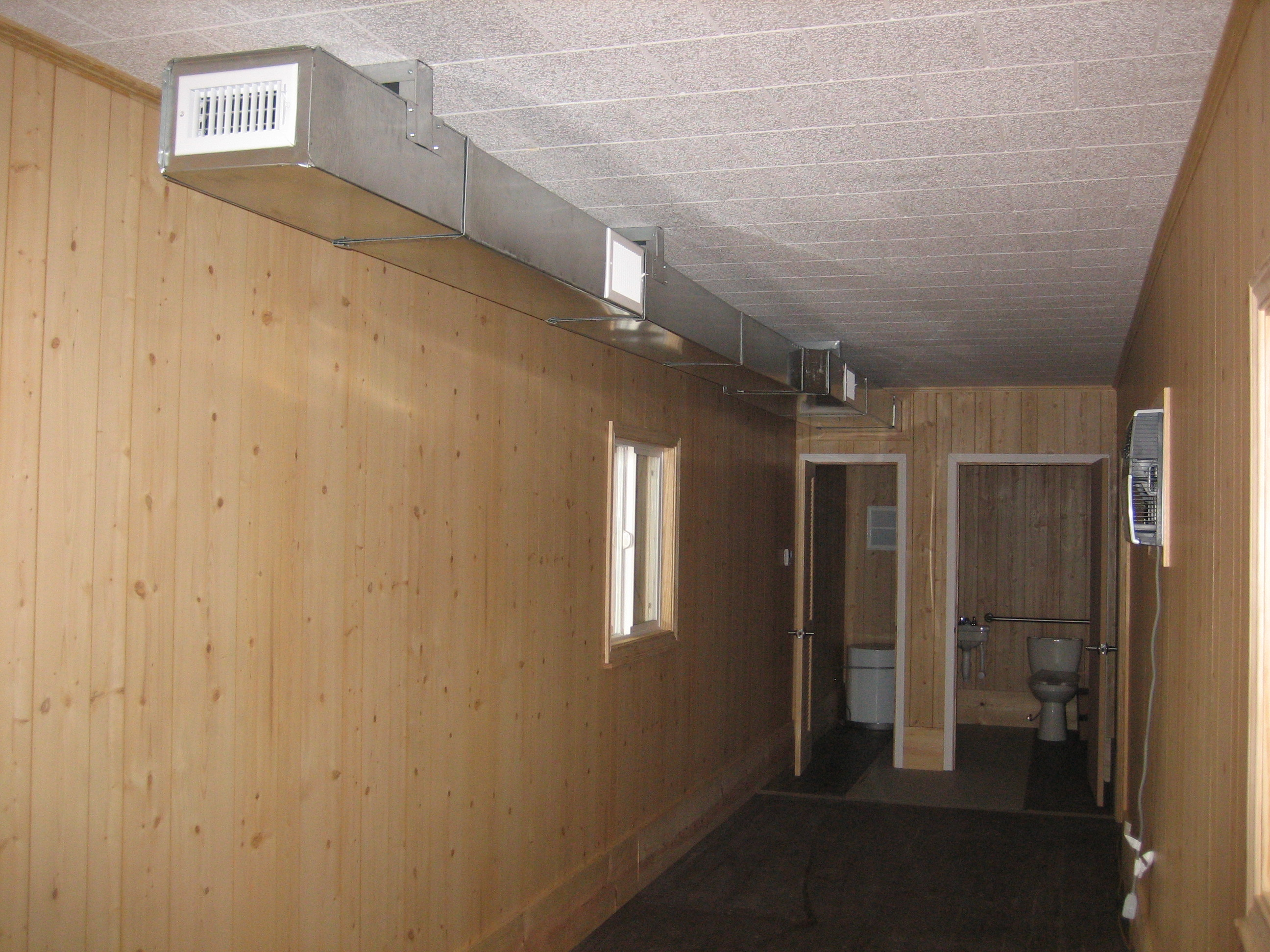 Office with 2 Ton AC Restroom & Hot-Water