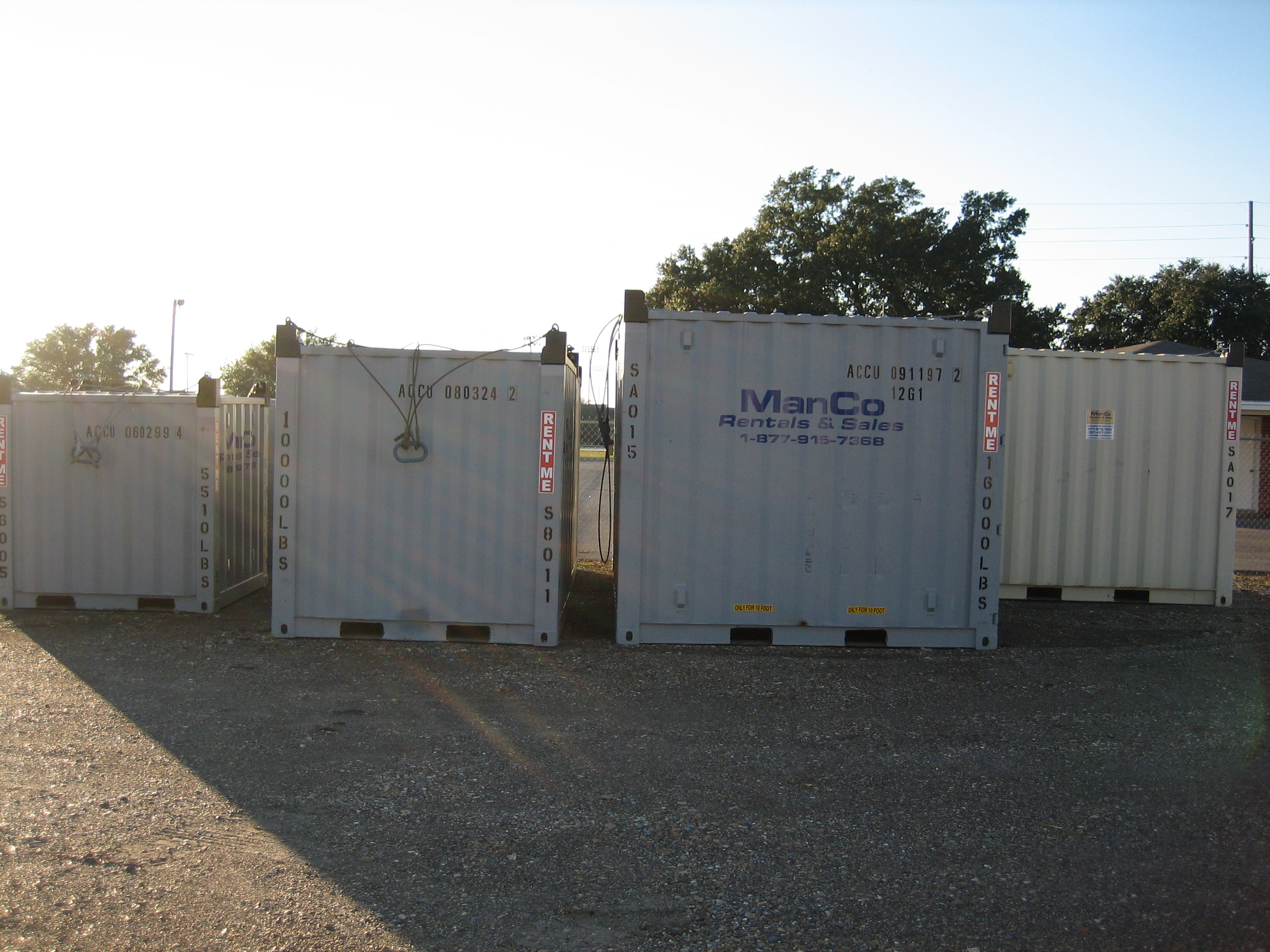 SEPCo Certified Offshore Containers with Pad Eyes & Slings 6' 8' 10'